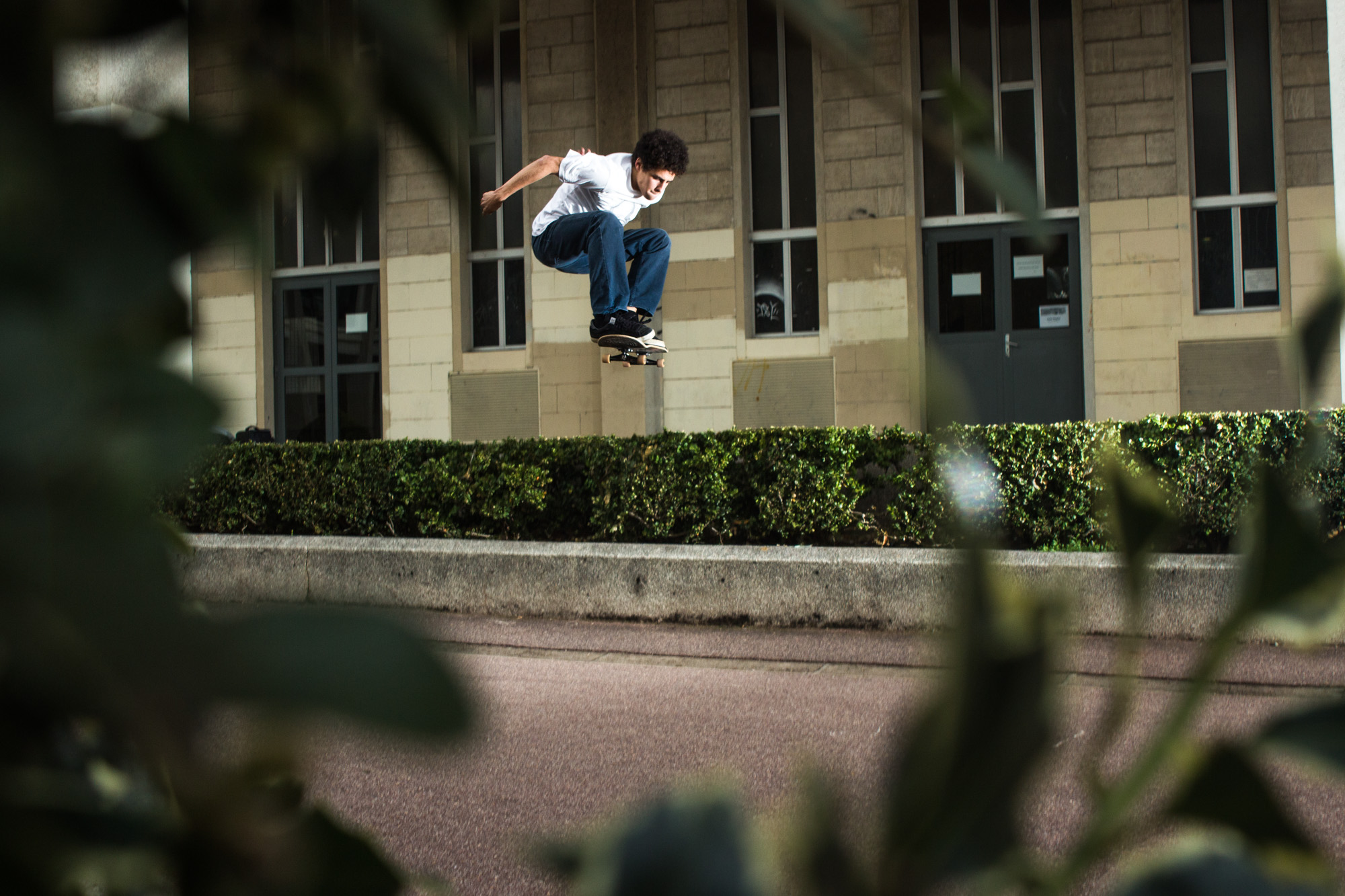 Gap en skateboard dans l'université de caen